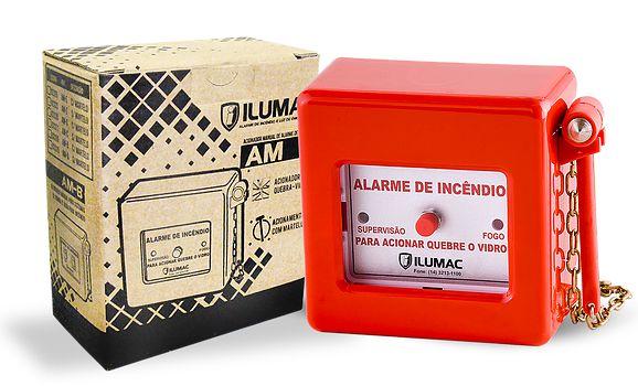 Acionador Manual de Alarme Convencional AM-C Ilumac com Martelo