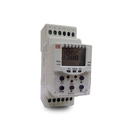 Programador Interruptor Horário BWT40 Coel 2 Saídas 8A