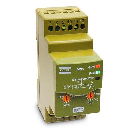 Controlador de Temperatura Analógico Coel M35 para Sensor PT100