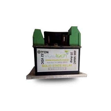 Rele de Estado Sólido SSR Slim 25A 3 a 32VDC 480VAC View Tech