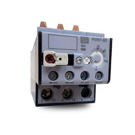Relé de Sobrecarga Térmico Tripolar RW67 50A a 63A Azul Weg