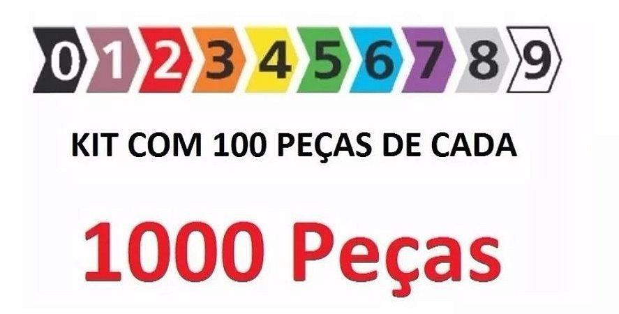 Anilhas Coloridas Hellermann MHG 1/3 10 Pacote com 100 Peças