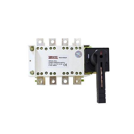 Chave de Transferência Rede/Gerador SGLZ4 160A