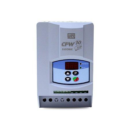 Inversor de Frequencia Weg CFW10 Mono 1CV 127V 4A Clean