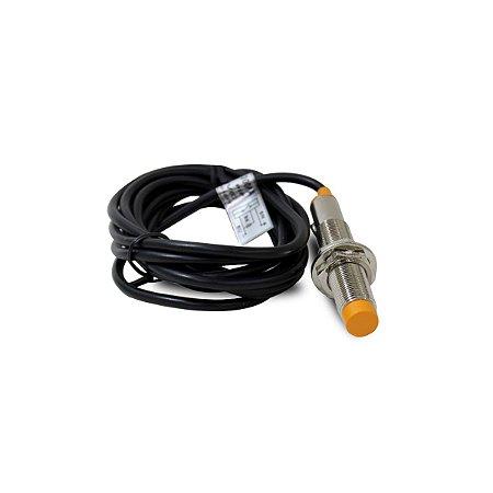 Sensor Capacitivo Não Faceado CM12 com Cabo PNP 1NA 6~36Vcc