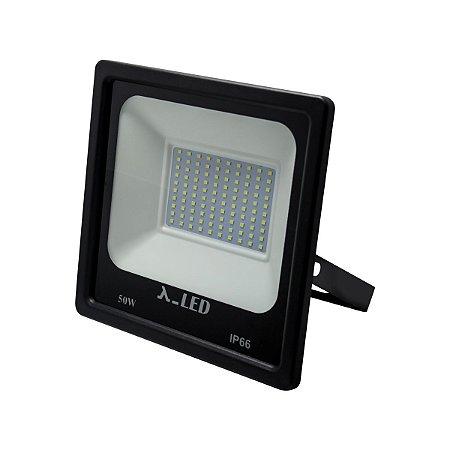 Refletor de Led Branca 6500k 90Lm Quadrado 4500 Lúmens IP65