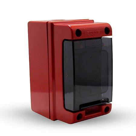 Quadro de Distribuição Scame de Sobrepor 2 DIN IP66 Vermelho