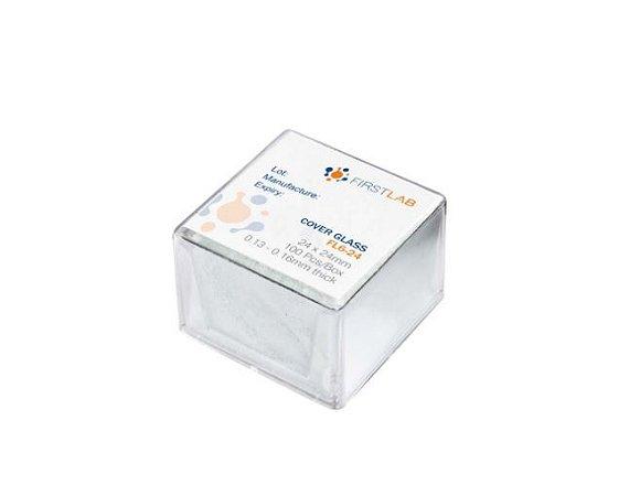 Lâminulas Para Microscopia 24x24 - C/100