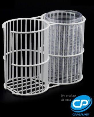 Suporte Duplo para Placa de Petri - CRAL