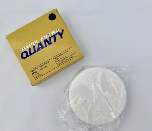 Papel Filtro Quantitativo 9cm - Faixa Preta - C/100 - J.Prolab