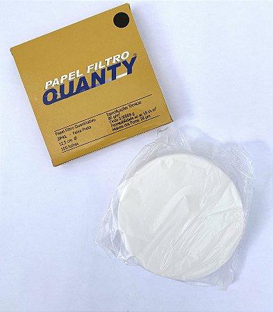 Papel Filtro Quantitativo 12,5cm - Faixa Preta - C/100 - J.Prolab