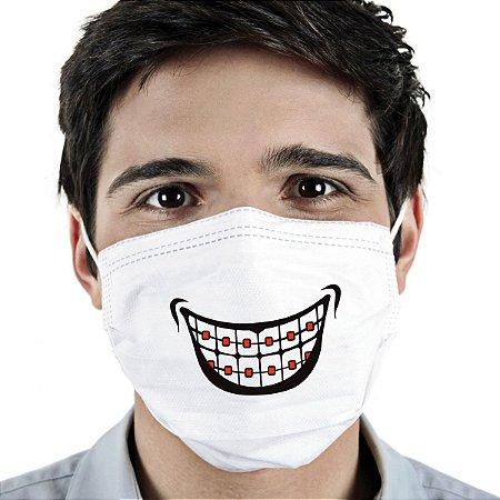 Máscara Ortho Cirúrgica Tripla Descartável - Elástico - C/20 - FunWork