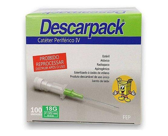 Catéter Intravenoso 18G VERDE C/100 - Descarpack