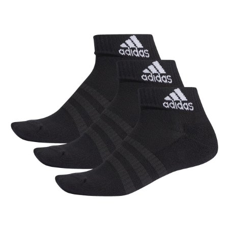 Meia Adidas Cano Baixo Cush Kit c/ 3 pares