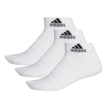 Meia Adidas Cano Baixo Light Kit c/ 3 pares