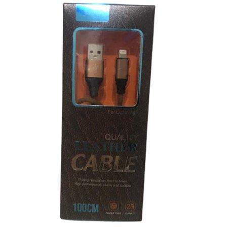 Cabo USB x Lightning reforçado da Quality Leather