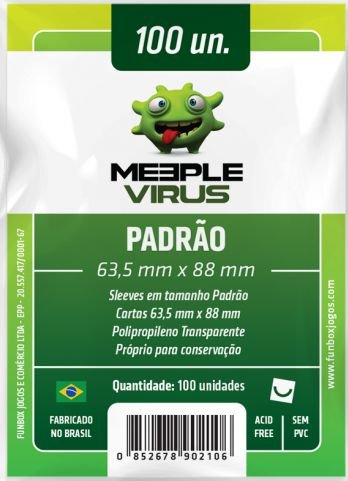 Sleeve Padrão 63,5x88 mm - Meeple Virus
