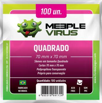 Sleeve Quadrado 70x70 mm - Meeple Virus