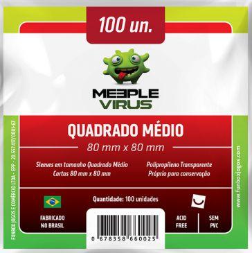 Sleeve Quadrado Médio 80x80 mm - Meeple Virus