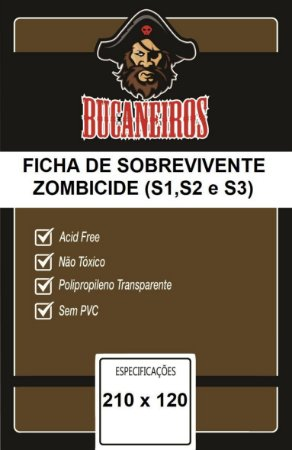 Sleeve Customizado Zombicide 210x120 mm - Bucaneiros