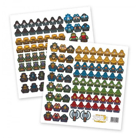 Dwar7s Outono Meeple Stickers