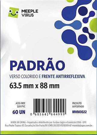 Sleeve Padrão Com Verso AZUL 63,5x88 mm - Blue Core