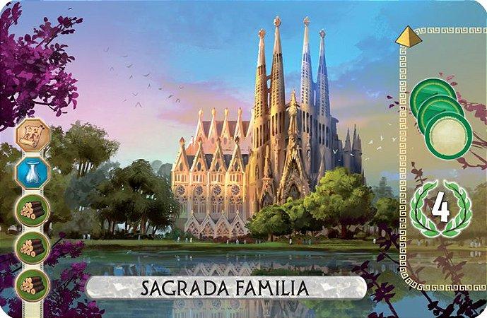 7 Wonders Duel Carta Promocional Sagrada Familia