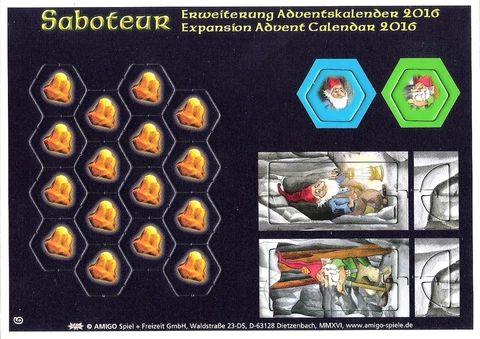 Saboteur Promo Brettspiel Adventskalender 2016