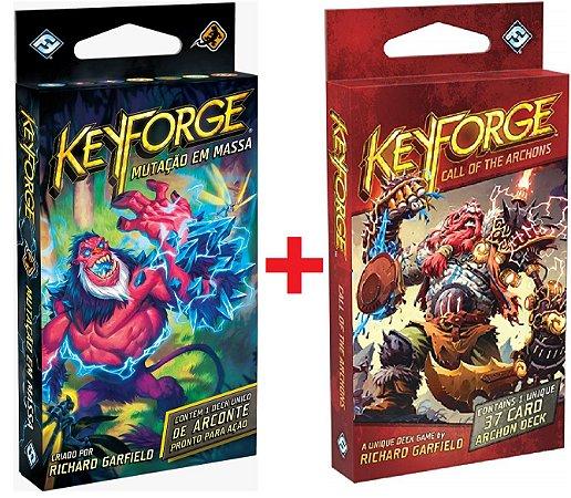 Keyforge Mutação em Massa + Keyforge O Chamado dos Arcondes