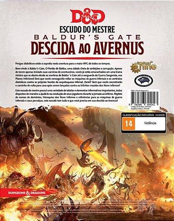 Dungeons and Dragons (5ª Edição) Baldur's Gate Descida ao Avernus - Escudo do Mestre