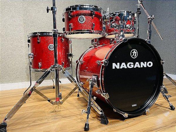 "Bateria Nagano Garage Gig Wine Sparkle 18"" 10"" 12"" 14"" + cx 13"""