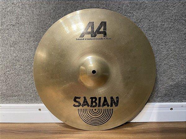 "Prato Sabian AA Sound Control Crash 16"""