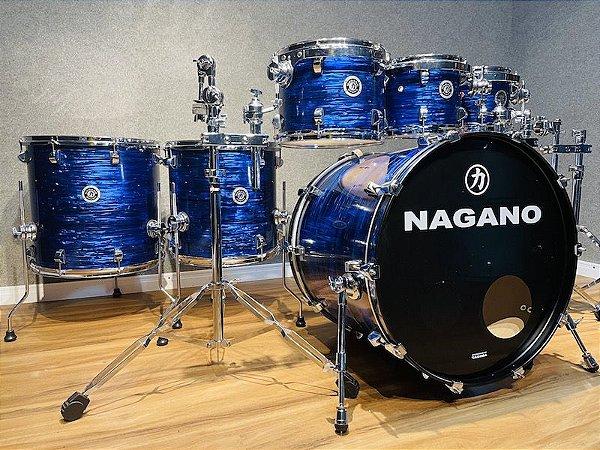 "Bateria Nagano Concert Full Celluloid Brooklin Blue 22"" 8"" 10"" 12"" 14"" 16"""