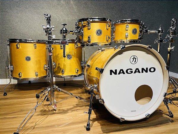 """Bateria Nagano Work Series Natural Lacquer 20"""" 10"""" 12"""" 14"""" 16"""""""