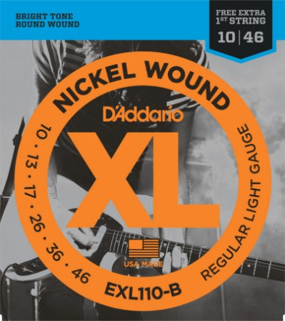 Encordoamento Guitarra EXL110-B Regular Light + Corda Extra!