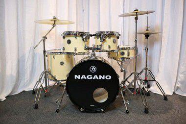 Bateria Nagano Garage Rock Natural Clear 22'' 10'' 12'' 16'' + Caixa 14''