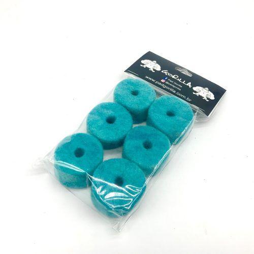 Feltro Para Prato Gorilla Azul com 6 Unidades - FEPA