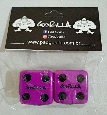 Borboleta de Prato Gorilla Dado Roxo 2 Unidades - BPDAR26