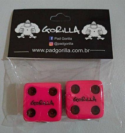 Borboleta de Prato Gorilla Dado Pink 2 Unidades - BPDNP