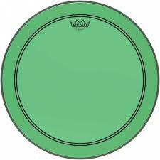 "Pele Remo Powerstroke 3 Colortone Verde p/ Bumbo 22"""