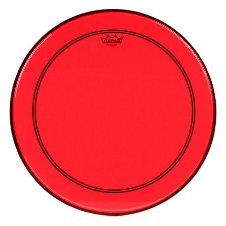 "Pele Remo Powerstroke 3 Colortone Vermelha p/ Bumbo 20"""