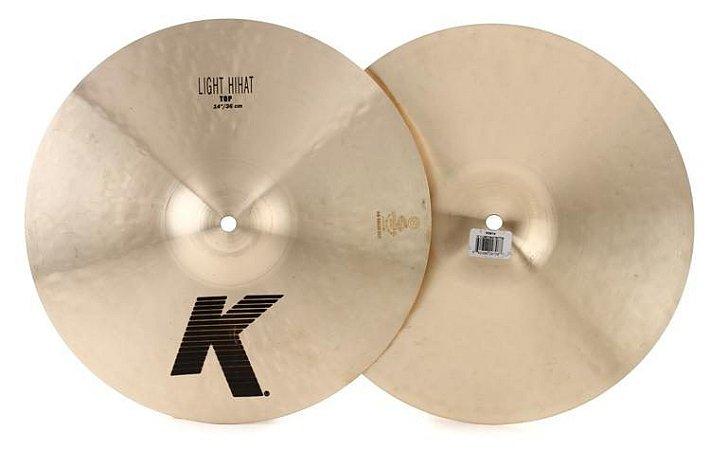 "Prato Zildjian K Light Hi Hat 14"""