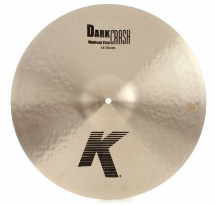 Prato Zildjian K Dark Medium Thin Crash 18""
