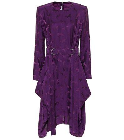 Stella McCartney - Silk-blend Jacquard Midi Dress