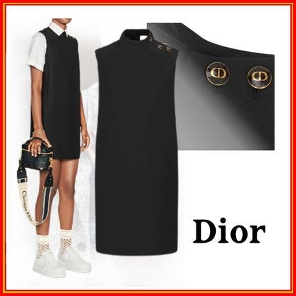 Christian Dior - Vestido em la e seda