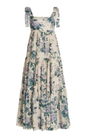 Zimmermann - vestido floral longo