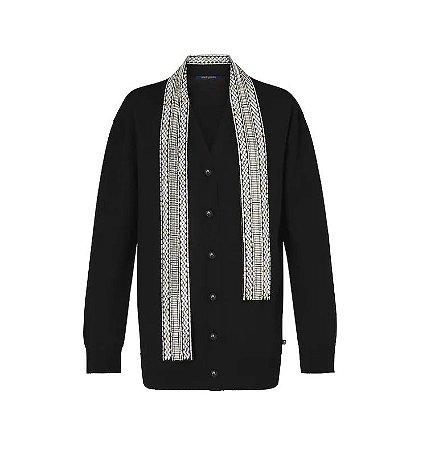 Louis Vuitton - Cardigan de malha com lenço bordado