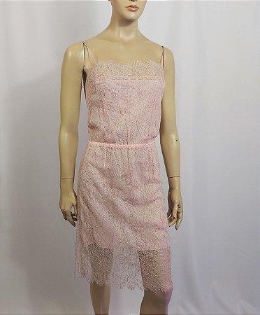Chanel - Vestido renda nude