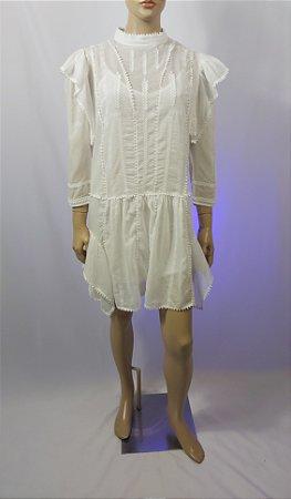 Isabel Marant - Vestido branco algodão
