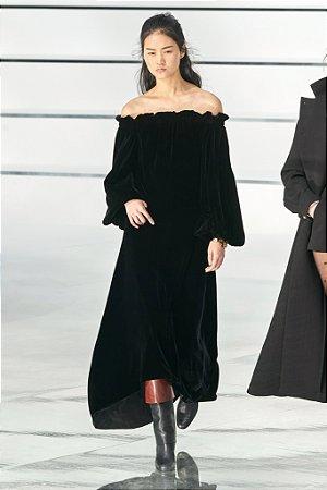 Chanel - Vestido veludo longo / Ss Fall 20
